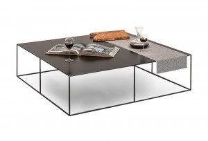 Slim Irony 100x100cm Low Table Zeus Noto